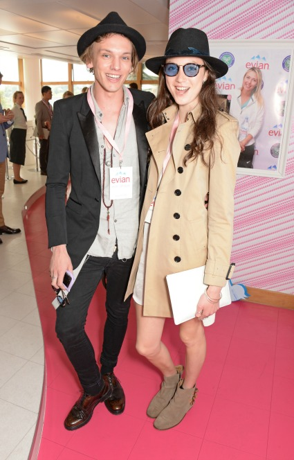 Jamie Campbell Bower and girfriend Mathilda Lowther are adorable as they hang out at Wimbledon - PICS - Jamie Campbell Bower Images - Sugarscape.com