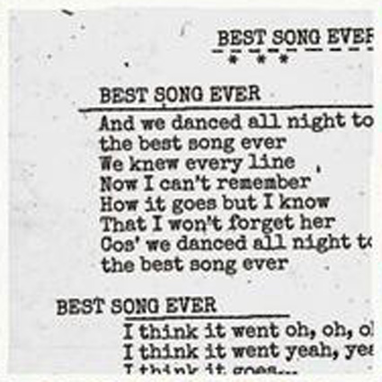 One Direction Best Song Ever Lyrics