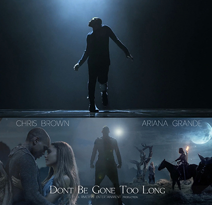 Chris Brown and Ariana Grande Don't Be Gone Too Long music video - Chris Brown and Ariana Grande images - sugarscape.com