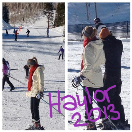 Taylor Swift and Harry Styles skiing - Taylor Swift and Harry Styles