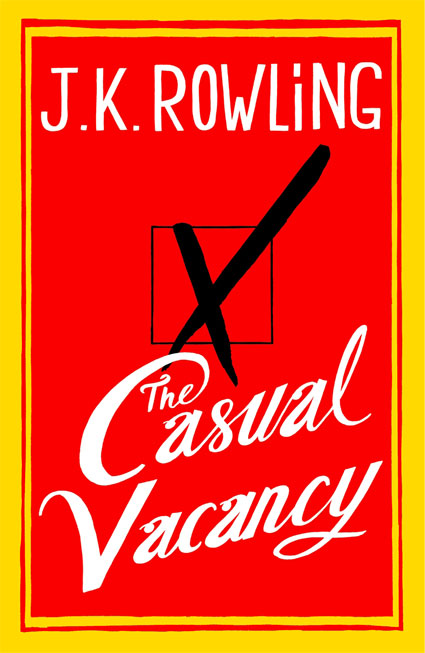 First look at the cover for J. K. Rowling's new book, The Casual Vacancy
