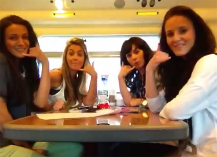 Michelle Keegan and friends cover Carly Rae Jepsen's Call Me Maybe