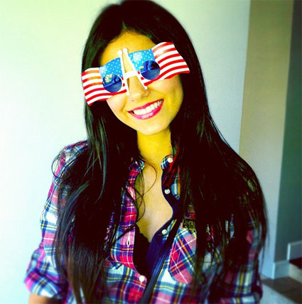 Victoria Justice celebrates the 4th of July in the USA