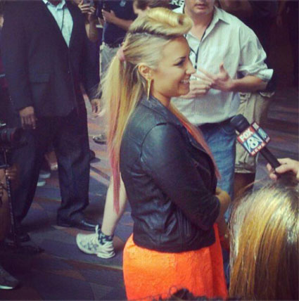 Demi Lovato wears retro rockailly hair to X Factor USa auditions