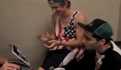 Niall Horan and Zayn Malik on Harry Styles and his crotch bulge