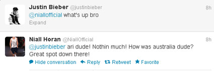 Justin Bieber and Niall Horan have some bromance bonding time