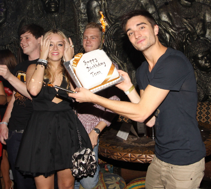 The Wanted surprise Tom Parker with surprise 24th birthday party