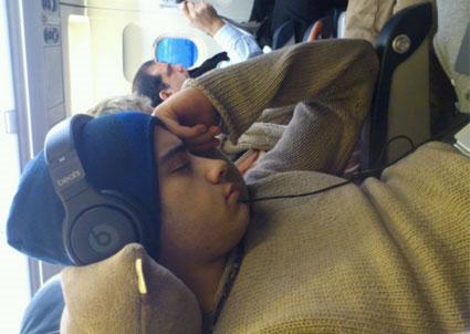 Zayn Malik asleep
