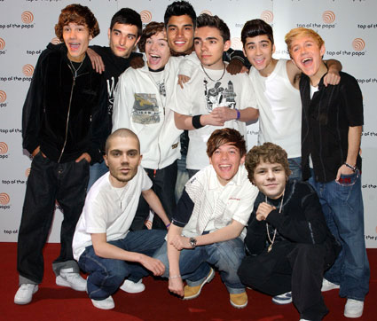 The Wanted and One Direction in Blazin' Squad