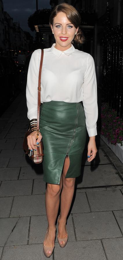 Dark green leather pencil skirt – Modern skirts blog for you