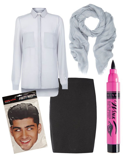 Zayn Malik Veronica costume for Halloween - iamges - Sugarscape.com