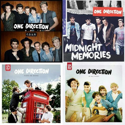 One Direction's 'Four' - Let's compare all their album ...