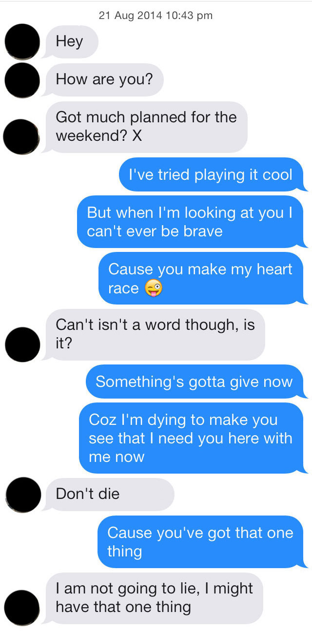 celebrity direction lyrics pick lines tinder