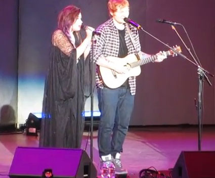 Ed Sheeran and Demi Lovato perform together - Images - Sugarscape.com