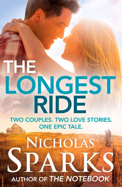 The Longest Ride by Nicholas Sparks UK cover
