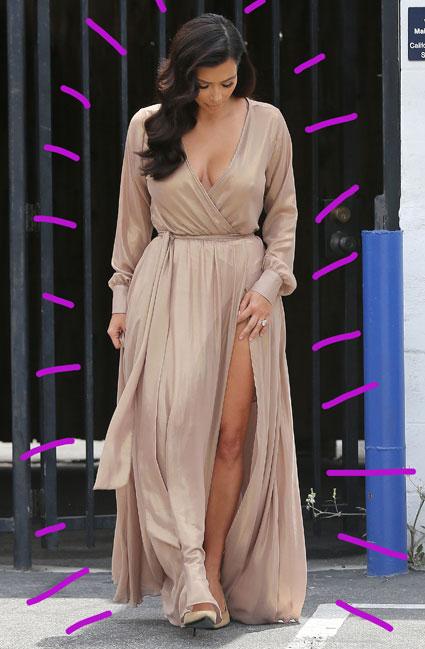 kim kardashian gold dress - kim kardashian images - sugarscape.com