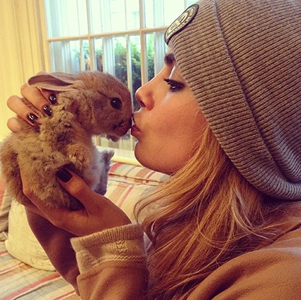 Cara Delevingne gets an adorable pet bunny rabbit - Cara Delevingne images - sugarscape.com