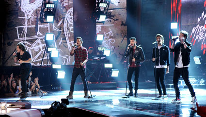One Direction perform Midnight Memories on the X Factor USA final - One Direction images - sugarscape.com