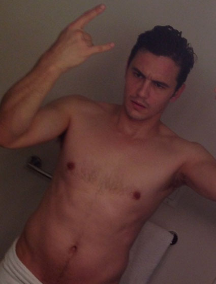 james franco shares nearly naked bathroom selfie pic of joy