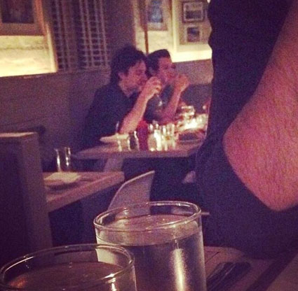 harry styles zach braff dinner - harry styles images - sugarscape.com