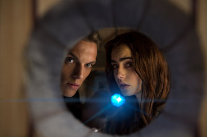 jace and clary the mortal instruments - jamie campbell bower images - sugarscape.com