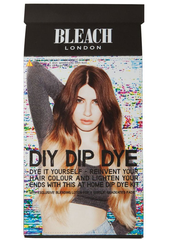Dip Dye DIY kit review Loreal Wild Ombre preference and Bleach London ,