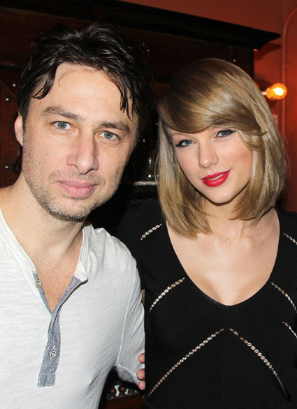Taylor Swift and Zach Braff hang out backstage at new musical Bullets Over Broadway - Images - Sugarscape.com