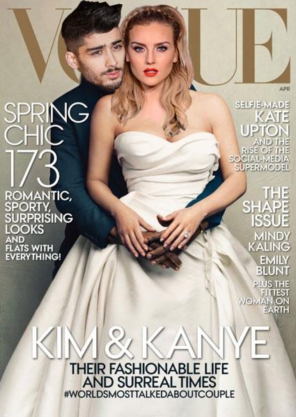 spoof kim and kayne vogue cover - kim kardashian images - sugarscape.com