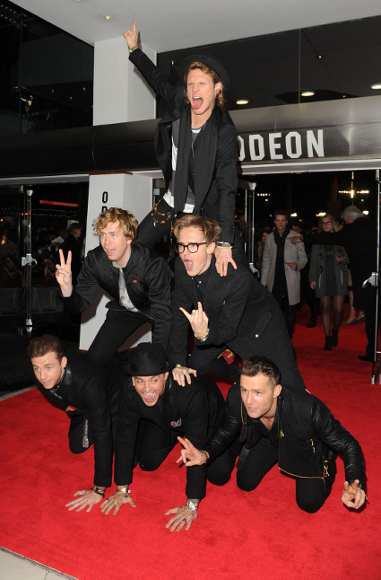 McBusted make their incredible red carpet debut at the Hunger Games: Catching Fire world premiere - McBusted images - sugarscape.com