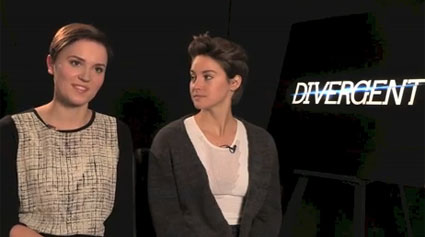 Veronica Roth and Shailene Woodley talk Divergent - Images - Sugarscape.com