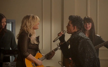 Demi Lovato, Adam Lambert and the Glee cast cover Katy Perry's Roar - Images - Sugarscape.com