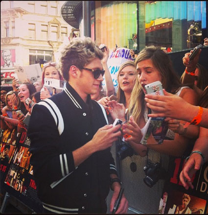 One Direction arrive at their This Is Us premiere