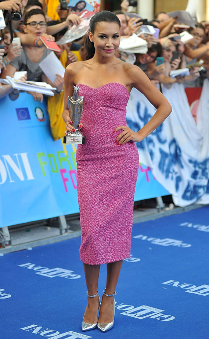 Naya Rivera looked stunning at the Giffoni Film Festival - love her look