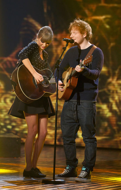 "Taylor Swift gushes over Ed Sheeran: ""He's amazing, I'm so proud of him"" - Taylor Swift Ed Sheeran images - sugarscape.com"