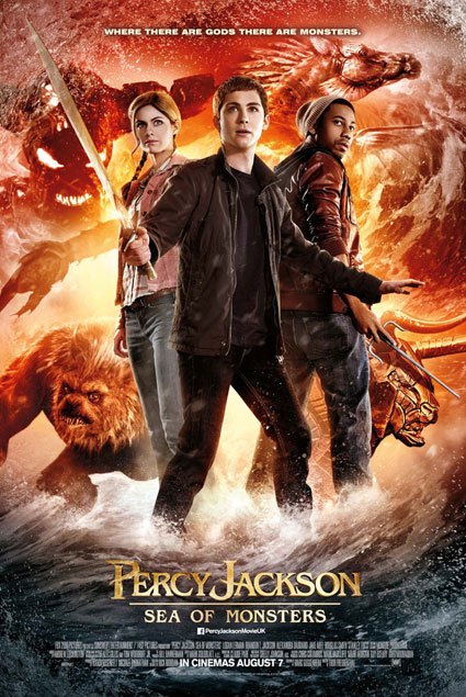 New Percy Jackson: Sea of Monsters poster with Logan Lerman