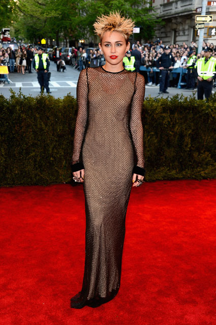 miley cyrus met ball 2013
