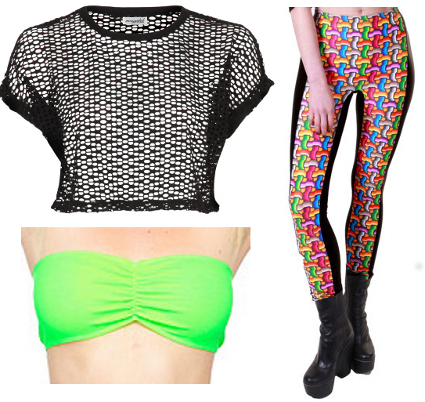 Little Mix Leigh-Anne Pinnock 's crop top and geometric leggings