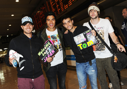 The Wanted arrive in Tokyo without Nathan Sykes