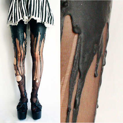Black on Black Melting Tights