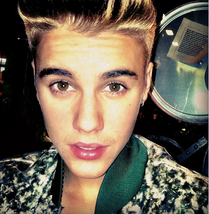 Justin Bieber shows off new moustache he named Rick - PICS