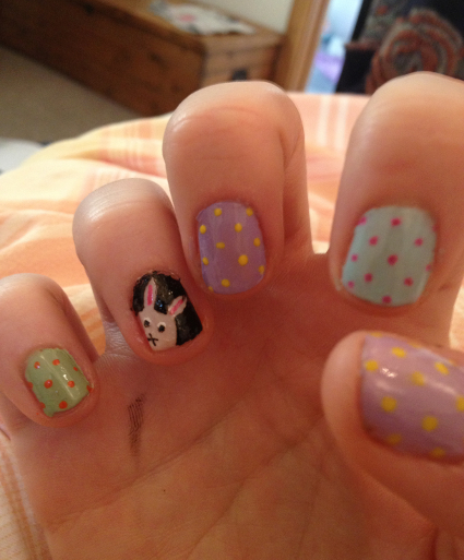 Easter bunny nail art - do it yourself