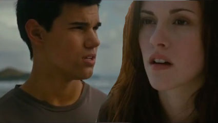 Taylor Lautner asks Kristen Stewart to shave his back - LOL watch bad lip reading