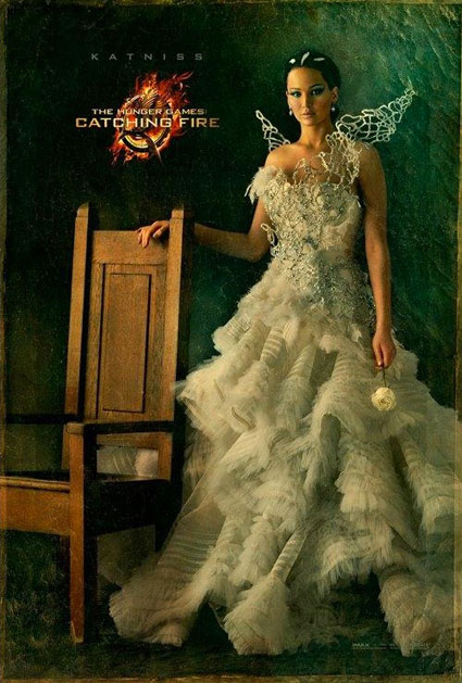 katniss everdeen poster the hunger games catching fire