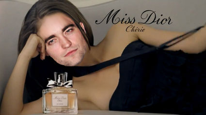 robert pattinson dior advert