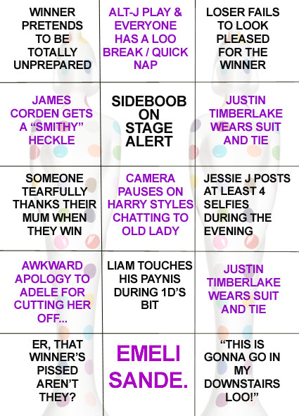 brit awards bingo 2013