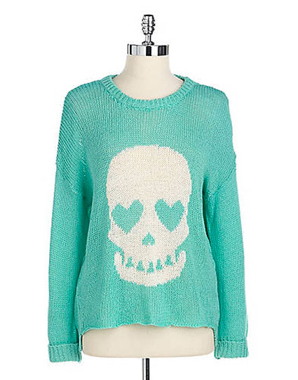 ashley tisdale green skull jumper