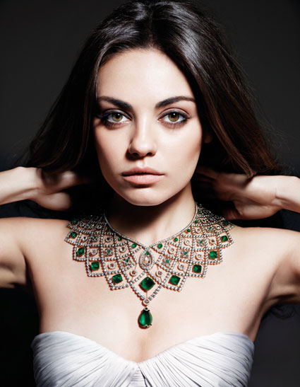 mila kunis face of gemfields
