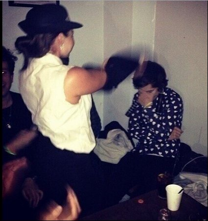 Harry Styles gets a surprise stripper at his 19th birthday ...