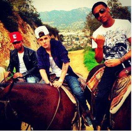 justin bieber horse riding