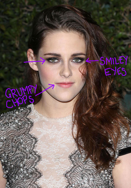 Kristen Stewart guide to smiling with your eyes or SMIZING